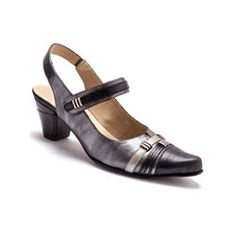 Leather Touch 'n' Close Sandals, Wide Fit for Comfort