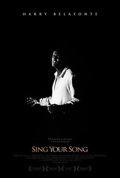 "Póster del documental sobre Harry Belafonte ""Sing your song"" (2011)."