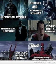 Super Heroes And Their Dead Parents