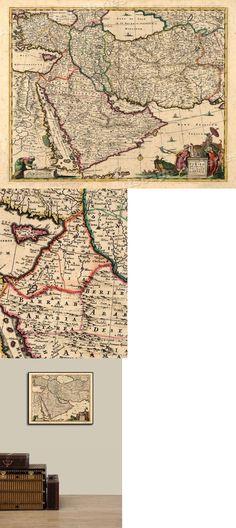 24x32 1570 Orbis Terrarum Middle East Historic Vintage Map