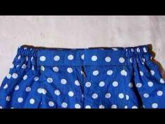cara menjahit rok dengan ban pinggang berkaret - YouTube