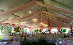 beautiful wedding tent pink