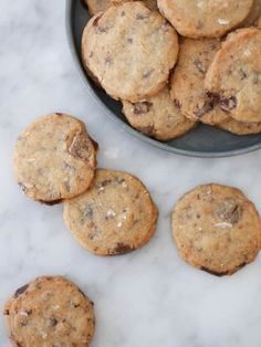 Chocolate Chip Cookies Recept, Chocolate Chips, Raw Food Recipes, Cookie Recipes, Dessert Recipes, Bagan, Just Bake, Swedish Recipes, Whoopie Pies