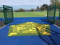 Our new Abbotsholme Welcome Mat for our synthetic pitch #abbotsholmeschool #sport