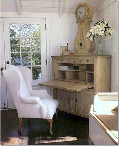 Swedish desk and clock ~ Nancy Fishelson