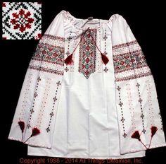 Handmade Ukrainian hand embroidered women's blouse #WS14-38 from Western Ukraine, sold on AllThingsUkrainian.com