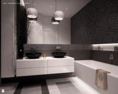 Monochromatyczna łazienka - Łazienka - Styl Minimalistyczny - Aguzzi Studio Architektury
