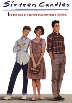 Sixteen Candles is a 1984 American coming-of-age comedy film starring Molly Ringwald, Michael Schoeffling and Anthony Michael Hall. It was written and directed by John Hughes. It is one of THE movie that defines the Movies Of The 80's, Great Movies, Movies And Tv Shows, Awesome Movies, Best Classic Movies, Awesome Things, Michael Schoeffling, Anthony Michael Hall, Ryan Michael
