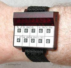 Sinclair wrist calculator, 1977 curated by @missmetaverse www.futuristmm.com #futurist #futurology #futurist