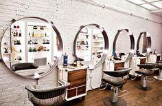 Design Salon, Beauty Salon Design, Salon Interior Design, Home Hair Salons, Beauty Salon Interior, In Home Salon, Rustic Salon Decor, Hair Salon Stations, Hair Salon Names