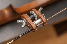 DIY Wickelspindel für Bogensehne. Coole und funktionierende Lösung !