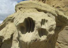Softened stone? White Mountain, Wyoming.