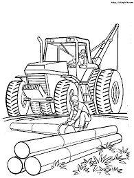 image result for tractor colouring pages