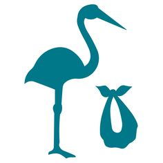 This adorable stork with its bundle will help all announce a special day. Make a perfect card or announcement for baby with this classic shape.