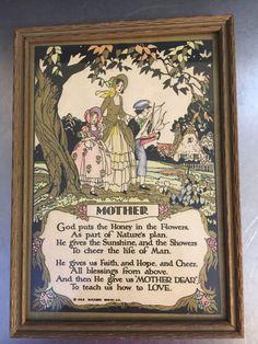 Vintage Buckbee Brehm Mother Poem 1929  by PineStreetPickers