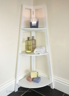 BATHROOM corner shelving unit WHITE vintage shabby / chic plant stand furniture in Home, Furniture & DIY, Furniture, Cabinets & Cupboards | eBay