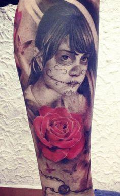 This is cool!! Tattoo Artist - Joshua Gomez - muerte tattoo