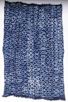 Woman's Wrapper  M. Goné Dre Kobena Paul (Country Unknown, Africa), 1999 Cotton; indigo tie dye (plangi) 40 3/4 x 51 3/16 in. (103.51 x 130 ...