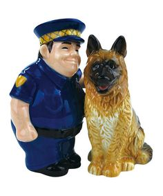 Take a look at this Policeman & German Shepherd Salt & Pepper Shakers by Westland Giftware on today! Salt N Peppa, Westland Giftware, Teapot Cookies, Salt And Pepper Set, Police Dogs, Salt Pepper Shakers, White Elephant Gifts, Fur Babies, 3 D