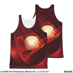 Lead Me Into Temptation, Abstract Fractal Art All-Over Print Tank Top
