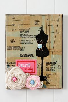 Sewing inspired art collage