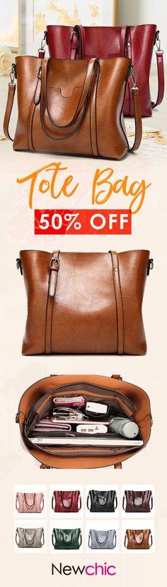 【US$31.63】Women PU Leather Handbag Dual-use Crossbody Bag #worktote #summertote #totebags #womentote #handbags