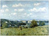 Valley of the Seine at Saint-Cloud - Alfred Sisley - www.alfredsisley.org