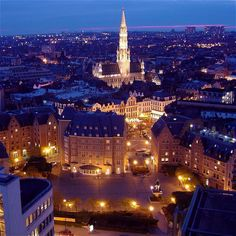 Brussels, Belgium: stopped here for a night in the mid-1990s.  Never will forget it.