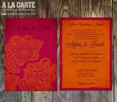 Indian Style Wedding Invitation. $15.00, via Etsy.