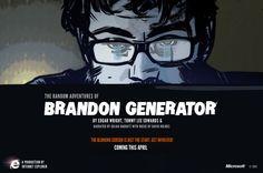 The Random Adventures of Brandon Generator   HTML5, CSS3, jQuery, SVG / animations / transitions / interactions