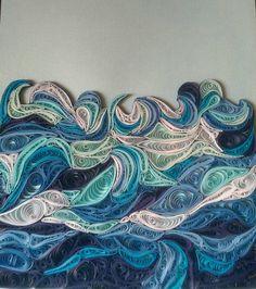 Ocean Waves Quilled By Ada Gordana Mudri Quilling Water Waves Sea Rivers Pinterest