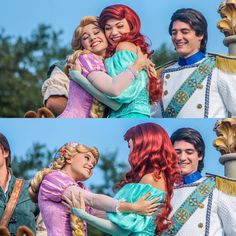 My heart exploded this morning.  Ariel and Rapunzel have the ultimate besties goals award