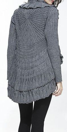 Gray Cable-Knit Wool-Blend Open Cardigan, looks so comfy!