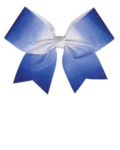 he Ombre Performance Hair Bow features an all-over glitter ribbon that fades from white into your favorite color.