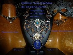 Custom OOAK Steampunk necklace options from Metallic Muse Creations. Steampunk jewelry. Steampunk fashion