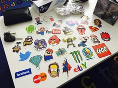 Beauty just arrived  .. #stickers #angrybirds #twitter #wall #shreck #babbay #mario #ebay #facebook #pringles #batman #ironman #pinkpanter #wifi #youtube #bighero #android #lego #camera #superman