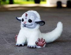 """Third soft-bodied framed doll from my new series """"My Little Dragon"""" It can sit and it can stand, it's tail is movable too. My Little Dragon: White Unicorn Cute Fantasy Creatures, Mythical Creatures, Creepy Animals, Cute Animals, Gremlins, Santani Dolls, O Pokemon, White Unicorn, Little Dragon"""