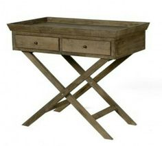 Oak Butlers style side table