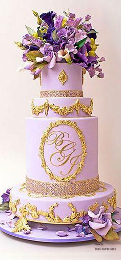 Purple Wedding cake (by Ben-Israel) ♔THD♔