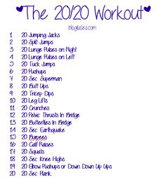 The 20/20 Workout .......Blogilates.com