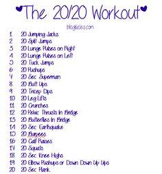 The 20/20 Workout .......Blogilates.com