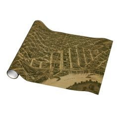 Vintage Pictorial Map of Montgomery Alabama (1887) Gift Wrap Paper $16.95