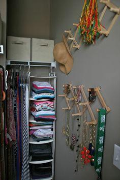 Jewelry Closet Organization