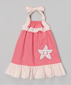 Love this Pink Starfish Dress - Infant, Toddler & Girls by Stellybelly on #zulily! #zulilyfinds