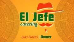 El Jefe Catering Logo and Business Card Design.