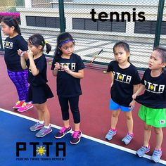 Tennis players are just cuter in the Philippines at the Perkins Twins Tennis Academy.info@theptta.com #philippine #tennis #coaches #coach #players #lessons #training