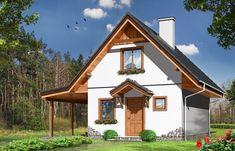 Projekt domu Szarejka – 63.63 m2 - koszt budowy 65 tys. zł Home Fashion, Cabin, House Styles, Container, Home Decor, Houses, House Design, Homes, Decoration Home