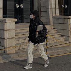 Korean Outfits, Mode Outfits, Fashion Outfits, Grunge Outfits, Aesthetic Couple, Aesthetic Clothes, Beige Aesthetic, Korean Street Fashion, Asian Fashion