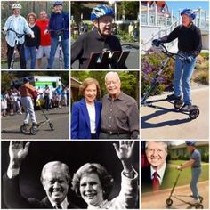 Jimmy and Rosalynn Carter: Trikke riders