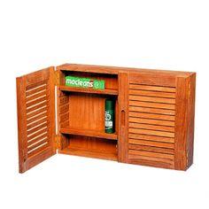 Kastje met 2 louvredeuren  Een mooi teak kastje met nautische uitstraling. Twee louvre deurtjes.Dit kastje kan aan een wand worden gemonteerd waardoor uw spullen stijlvol uit het zicht opgeborgen kunnen worden. Achter de louvredeurtjes bevinden zich twee verstelbare planken.  Artikelnummer: 3023  56 x 38 x 12 cm